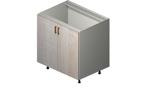 """Cortina Oyster Shell Base Cabinet - 2 Full-Height Doors (33 x 34.75 x 24"""")"""""""""""