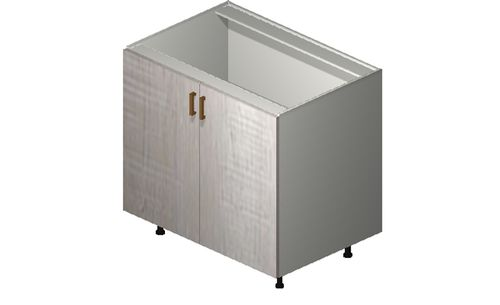 """Cortina Oyster Shell Base Cabinet - 2 Full-Height Doors (36 x 34.75 x 24"""")"""""""""""