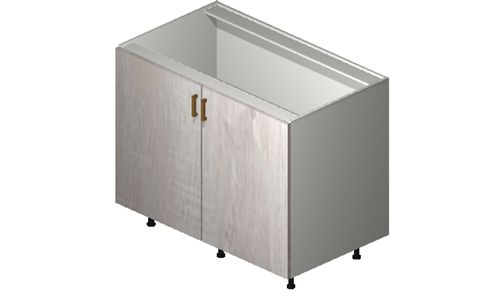 """Cortina Oyster Shell Base Cabinet - 2 Full-Height Doors (42 x 34.75 x 24"""")"""""""""""