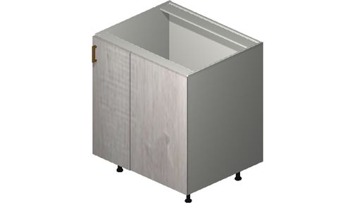 """Cortina Oyster Shell Base Cabinet - 1 Full-Height Door (37/40 x 34.75 x 24"""")"""""""""""