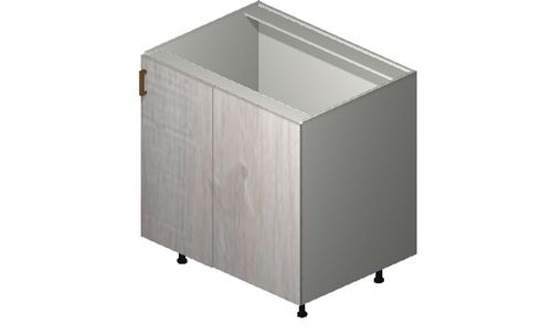 """Cortina Oyster Shell Base Cabinet - 1 Full-Height Door (40/43 x 34.75 x 24"""")"""""""""""