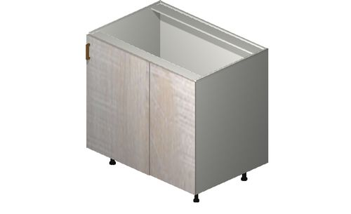 """Cortina Oyster Shell Base Cabinet - 1 Full-Height Door (46/49 x 34.75 x 24"""")"""""""""""