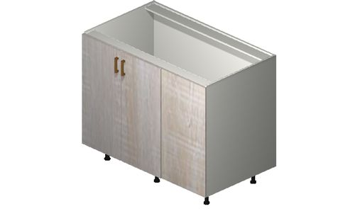 """Cortina Oyster Shell Base Cabinet - 2 Full-Height Doors (52/55 x 34.75 x 24"""")"""""""""""