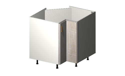 """Cortina Oyster Shell Base Cabinet - 1 Easy-Reach Door (33 x 34.75 x 33"""")"""""""""""