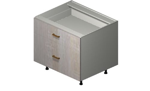 """Cortina Oyster Shell Desk Base Cabinet - 2 Drawers (30 x 27.13 x 24"""")"""""""""""