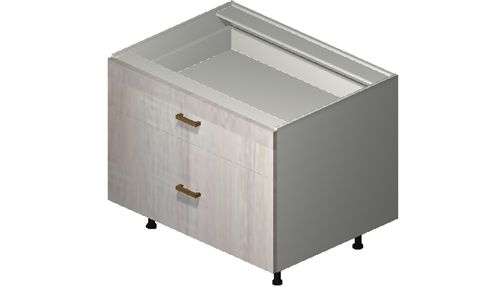 """Cortina Oyster Shell Desk Base Cabinet - 2 Drawers (33 x 27.13 x 24"""")"""""""""""