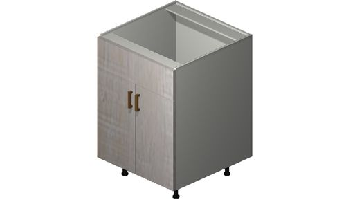 """Cortina Oyster Shell Sink Base Cabinet - 2 Doors, 1 False Drawer (24 x 34.75 x 24"""")"""""""""""