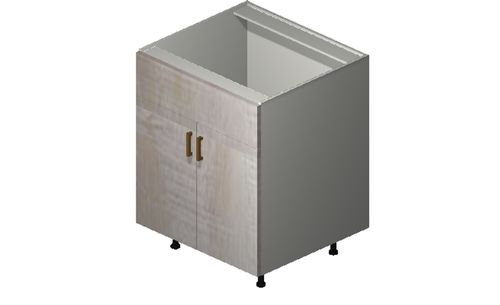 """Cortina Oyster Shell Sink Base Cabinet - 2 Doors, 1 False Drawer (27 x 34.75 x 24"""")"""""""""""