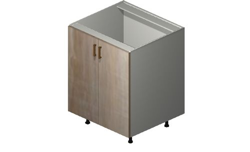 """Cortina Conch Shell Base Cabinet - 2 Full-Height Doors (27 x 34.75 x 24"""")"""""""""""