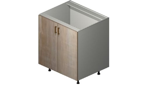 """Cortina Conch Shell Base Cabinet - 2 Full-Height Doors (30 x 34.75 x 24"""")"""""""""""