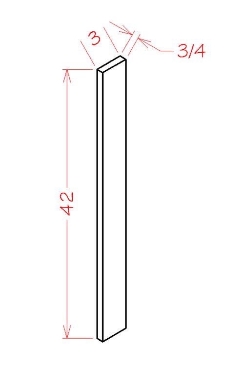 "Shaker Grey Wall Filler (3 x 42"" x 0.75"")"""