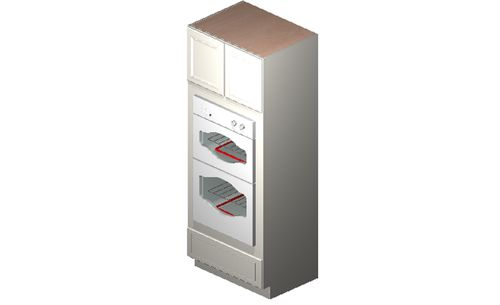 """Eastland Antique White Oven Tall Cabinet - 2 Doors, 3 Drawers (26.5 x 84"""" x 24"""")"""""""