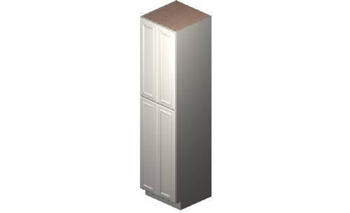 """Eastland Antique White Tall Cabinet - 4 Doors, 4 Rollout Shelves (24 x 96"""" x 24"""")"""""""