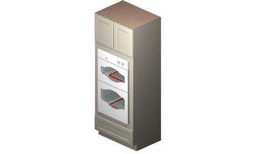 """Shaker Dove Oven Tall Cabinet - 2 Doors, 3 Drawers (26.5 x 84"""" x 24"""")"""""""
