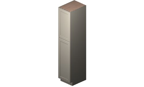 "Shaker Dove Tall Cabinet - 2 Door, 4 Rollout Shelves (18 x 90"" x 24"")"""