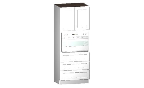 """Shaker White Oven Tall Cabinet - 2 Doors, 3 Drawers (26.5 x 84"""" x 24"""")"""""""