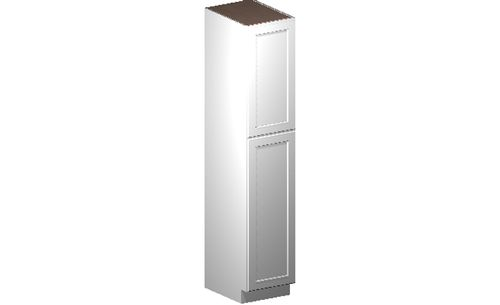 """Shaker White Tall Cabinet - 2 Door, 4 Rollout Shelves (18 x 90"""" x 24"""")"""""""