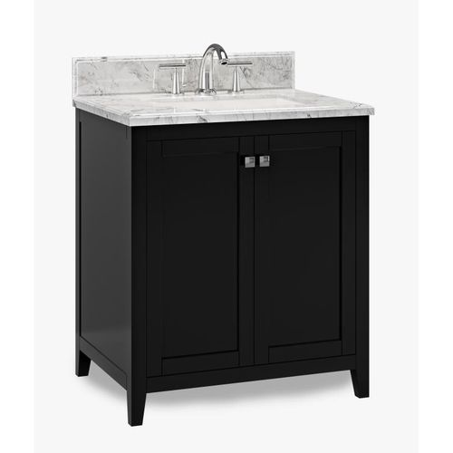 """Beck Espresso Freestanding Vanity Cabinet with Single Basin Integrated Sink and Countertop - Two Doors (31 x 34.5"""" x 22"""")"""""""