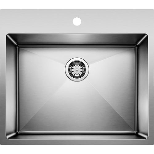 """Quatrus 25"""" Single-Basin Dual-Mount Laundry Sink in Stainless Steel (25"""" x 22"""" x 12"""")"""