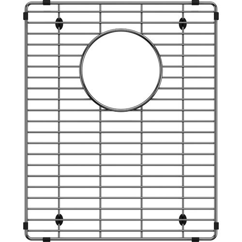 """Quatrus Stainless Steel Sink Grid with Drain Cutout 15.38"""" x 12.44"""""""