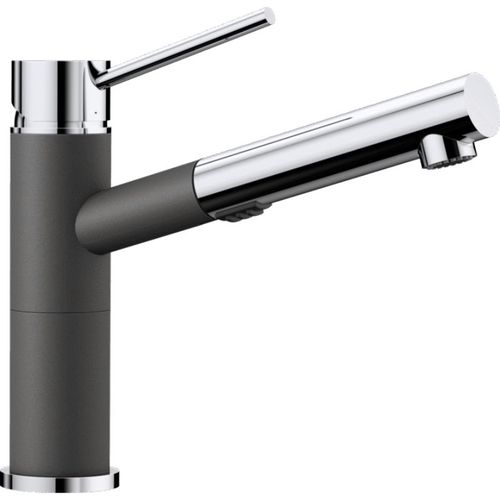 Alta Pull-Out Kitchen Faucet in Cinder Polished Chrome