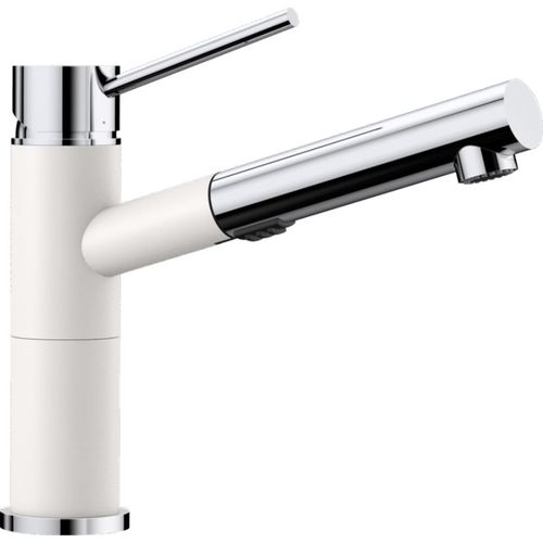 Alta Pull-Out Kitchen Faucet in White Polished Chrome