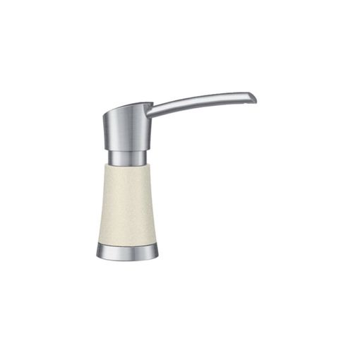 Artona Soap Dispenser in Biscuit and Stainless