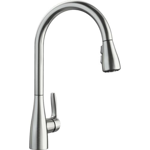 "Atura Single-Handle Pull-Down Kitchen Faucet in Stainless - 16.38"" High"