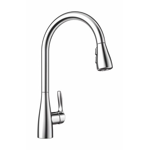 """Atura Single-Handle Pull-Down Kitchen Faucet in Polished Chrome - 16.38"""" High"""