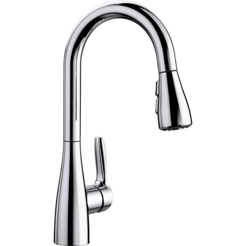 """Atura Single-Handle Pull-Down Kitchen Faucet in Polished Chrome - 14.19"""" High"""