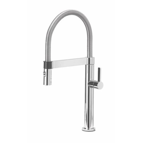 "Culina Single-Handle Pull-Down Kitchen Faucet in Polished Chrome - 17.13"" High"