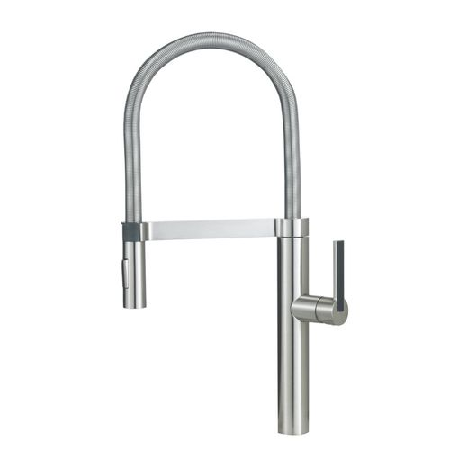"""Culina Single-Handle Pull-Down Kitchen Faucet in Satin Nickel - 21.5"""" High"""