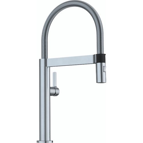 """Culina Single-Handle Pull-Down Kitchen Faucet in Satin Nickel - 17.13"""" High"""