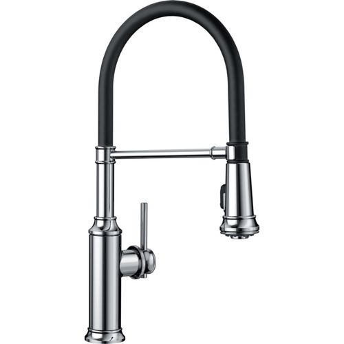 "Empressa Single-Handle Pull-Down Kitchen Faucet in Polished Chrome - 19.38"" High"