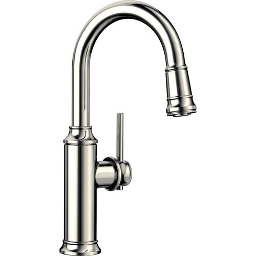Empressa Single-Handle Pull-Down Bar Faucet in Polished Nickel