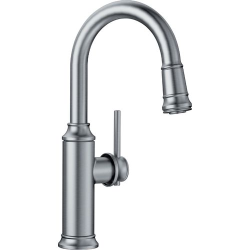 """Empressa Single-Handle Pull-Down Kitchen Faucet in Stainless - 14.38"""" High"""
