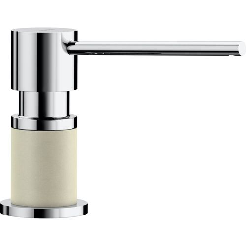 Lato Soap Dispenser in Biscuit and Chrome