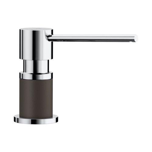 Lato Soap Dispenser in Cafe Brown and Chrome