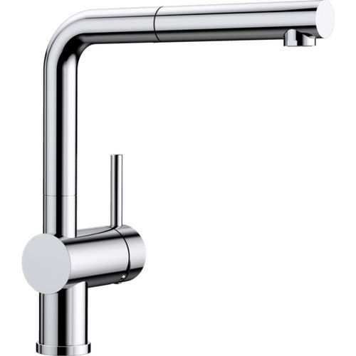"""Linus Single-Handle Pull-Out Kitchen Faucet in Polished Chrome - 11"""" High"""