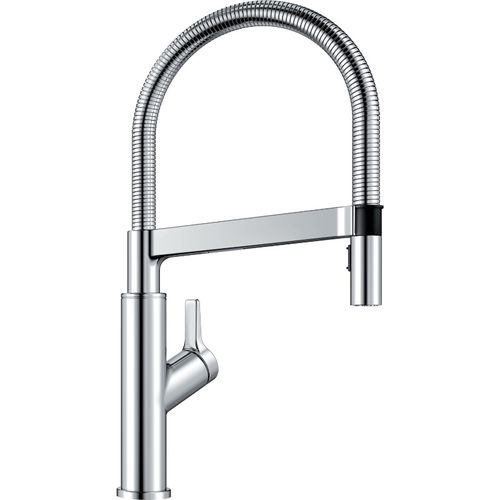 """Solenta Single-Handle Pull-Down Kitchen Faucet in Polished Chrome - 17.5"""" High"""