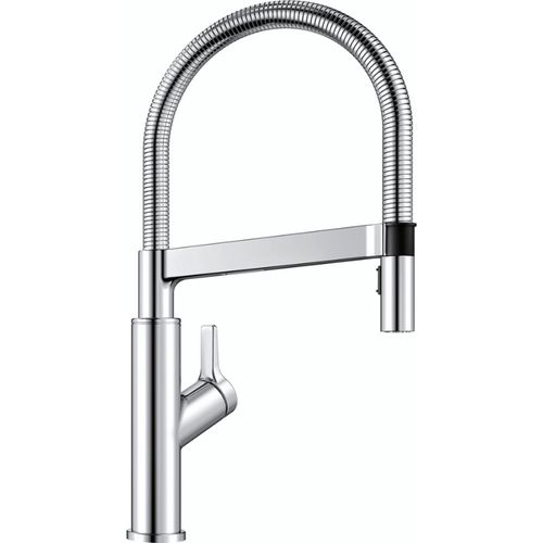 "Solenta Single-Handle Pull-Down Kitchen Faucet in Polished Chrome - 17.5"" High"