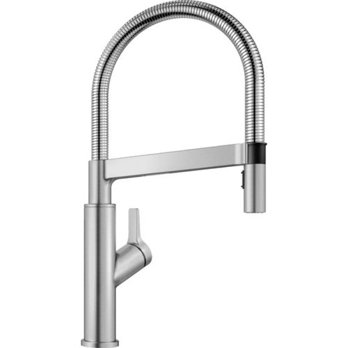 """Solenta Single-Handle Pull-Down Kitchen Faucet in Stainless - 17.5"""" High"""