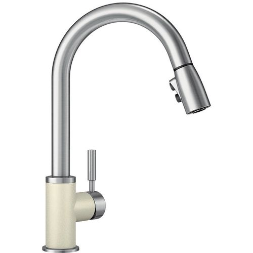 """Sonoma Single-Handle Pull-Down Kitchen Faucet in Biscuit / Stainless - 15.5"""" High"""
