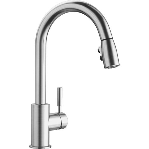 """Sonoma Single-Handle Pull-Down Kitchen Faucet in Stainless - 15.5"""" High"""