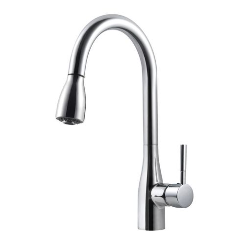 Cherbourg Pull-Down Single-Handle Kitchen Faucet in Polished Chrome