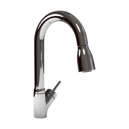 Mondrian Pull-Down Single-Handle Kitchen Faucet in Polished Chrome