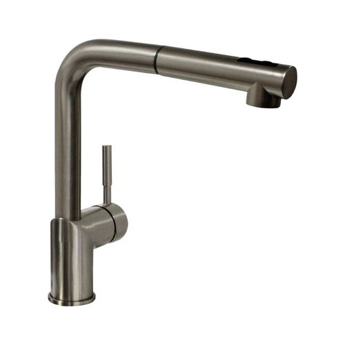 San Simeon Pull-Out Single-Handle Kitchen Faucet in Satin Nickel