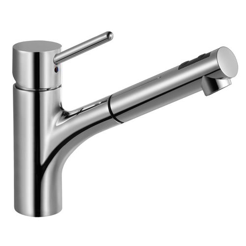 Berlin Pull-Out Single-Handle Kitchen Faucet in Polished Chrome