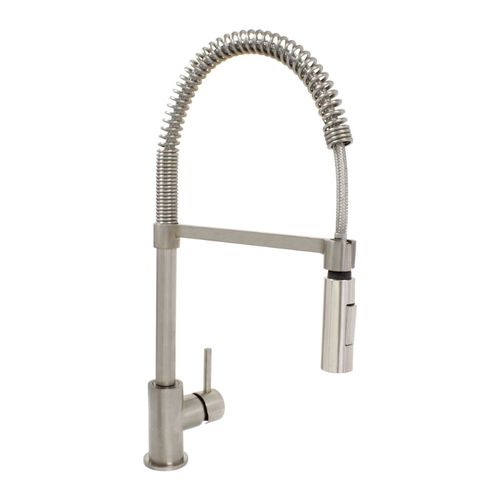 Savoia Pull-Down Single-Handle Pre-Rinse Kitchen Faucet in Satin Nickel