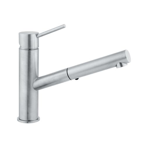 Modica Pull-Out Single-Handle Kitchen Faucet in Natural Stainless